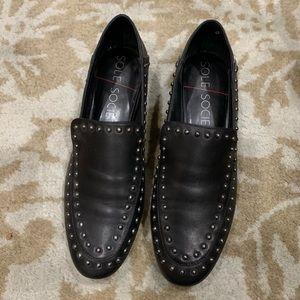 Black flats, worn once - like new!